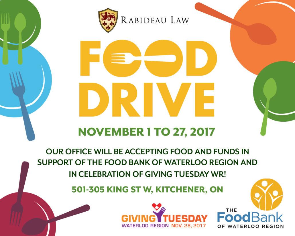Rabideau Law Food Drive 2017 – Rabideau Law